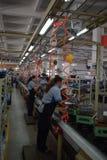 Fabrieksarbeiders, Chongqing, China Stock Afbeelding