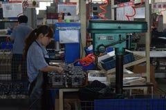 Fabrieksarbeiders, Chongqing, China Stock Foto