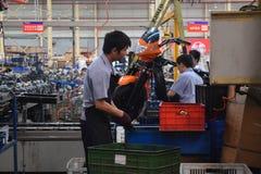 Fabrieksarbeiders, Chongqing, China Royalty-vrije Stock Afbeeldingen
