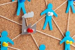 Fabrieksbeheer en mededelingen Corruptie op het werk De correcte selectie van leveranciers en personeel in de onderneming royalty-vrije stock afbeelding