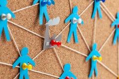 Fabrieksbeheer en mededelingen Corruptie op het werk De correcte selectie van leveranciers en personeel in de onderneming stock foto's