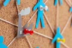 Fabrieksbeheer en mededelingen Corruptie op het werk De correcte selectie van leveranciers en personeel in de onderneming stock afbeelding