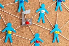 Fabrieksbeheer en mededelingen Corruptie op het werk De correcte selectie van leveranciers en personeel in de onderneming stock afbeeldingen