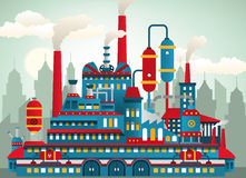Fabriekspictogrammen Stock Afbeeldingen