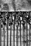 Fabriekspijpen en kleppen Royalty-vrije Stock Fotografie