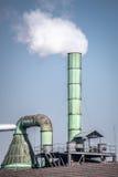 Fabrieksschoorsteen Stock Afbeelding