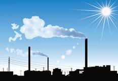 Fabrik. Lizenzfreie Stockbilder