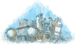 fabrik vektor illustrationer