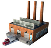 fabrik royaltyfri illustrationer