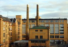 Fabrik, Architektur von einem Ziegelstein Lizenzfreie Stockfotos