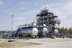 Fabrik auf Ölraffinieren Stockbild