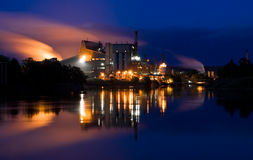 Fabrik der Verunreinigung Stockfoto