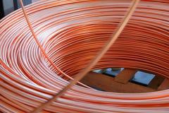 Fabrik des kupfernen Kabels Hintergrund Lizenzfreie Stockfotografie