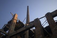 fabrik för 02 tegelsten Fotografering för Bildbyråer