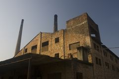 fabrik för 04 tegelsten Royaltyfri Fotografi