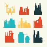 Fabrik för fabriks- produkter Stock Illustrationer