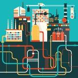 Fabrik för fabriks- produkter Vektor Illustrationer
