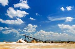 Fabrik för salt produktion Royaltyfri Foto