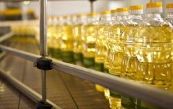 Fabrik für die Produktion von Speiseölen flach legen Sie ab Stockbilder