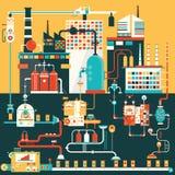 Fabrik für Herstellungsprodukte Stockfoto