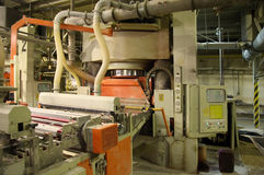 Fabrik für Keramikfliesen Stockfotos