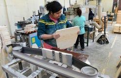 Fabrik für Produktion von Möbeln Stockfotos