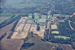 Fabrik für Sandbergbau von der Spitze Lizenzfreie Stockfotografie