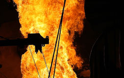 Fabrik-Flammen Stockfoto