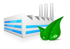 Fabrik_green_leafs Royalty Free Stock Photos