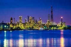 Fabrik helles scape Panorama Lizenzfreies Stockfoto