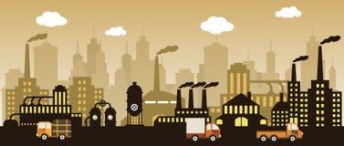 Fabrik i staden Royaltyfri Foto
