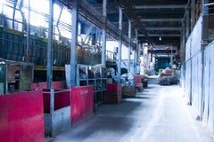Fabrik-Innenraum stockbild