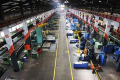 Fabrik inomhus arkivbilder