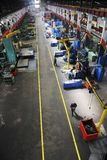 Fabrik inomhus royaltyfri bild