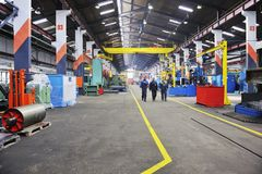 Fabrik inomhus royaltyfria foton