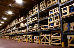 Fabrik-Lager. Stockfotos