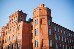 fabrik lodz gammala poland Fotografering för Bildbyråer