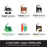 Fabrik Logo Template Design Vector Arkivbild