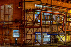 Fabrik-Nacht Stockfotos