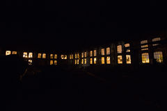 Fabrik-Nacht Lizenzfreie Stockfotos
