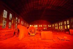 Fabrik-Nacht Stockfoto