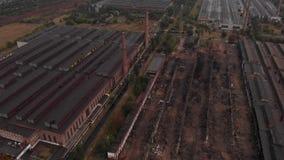 Fabrik och demolerade byggnader arkivfilmer