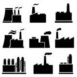 Fabrik och industribyggnader Royaltyfri Bild