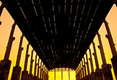 fabrik på solnedgång Fotografering för Bildbyråer