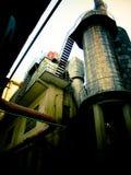 Fabrik som leda i rör området för PekingKina 798 konst Arkivbilder
