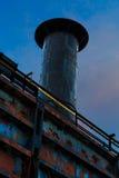 Fabrik-Stahlstapel in Bethlehem-PA stockfoto