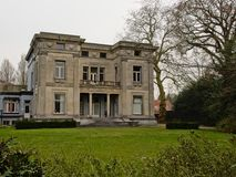 `Fabrikantenvilla` or manufacturers mansion in Enschede. Posh neo-classical `Fabrikantenvilla` or manufacturers mansion in Enschede, the Netherlands. the former Royalty Free Stock Image