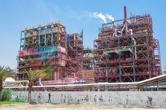 Fabriken des Toten Meers Stockfotografie