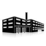 Fabrikgebäude mit Büros und Produktionsanlagen Lizenzfreies Stockbild