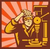 Fabrikgeschäftsarbeitskraft-Bankbohrgerät Stockfoto